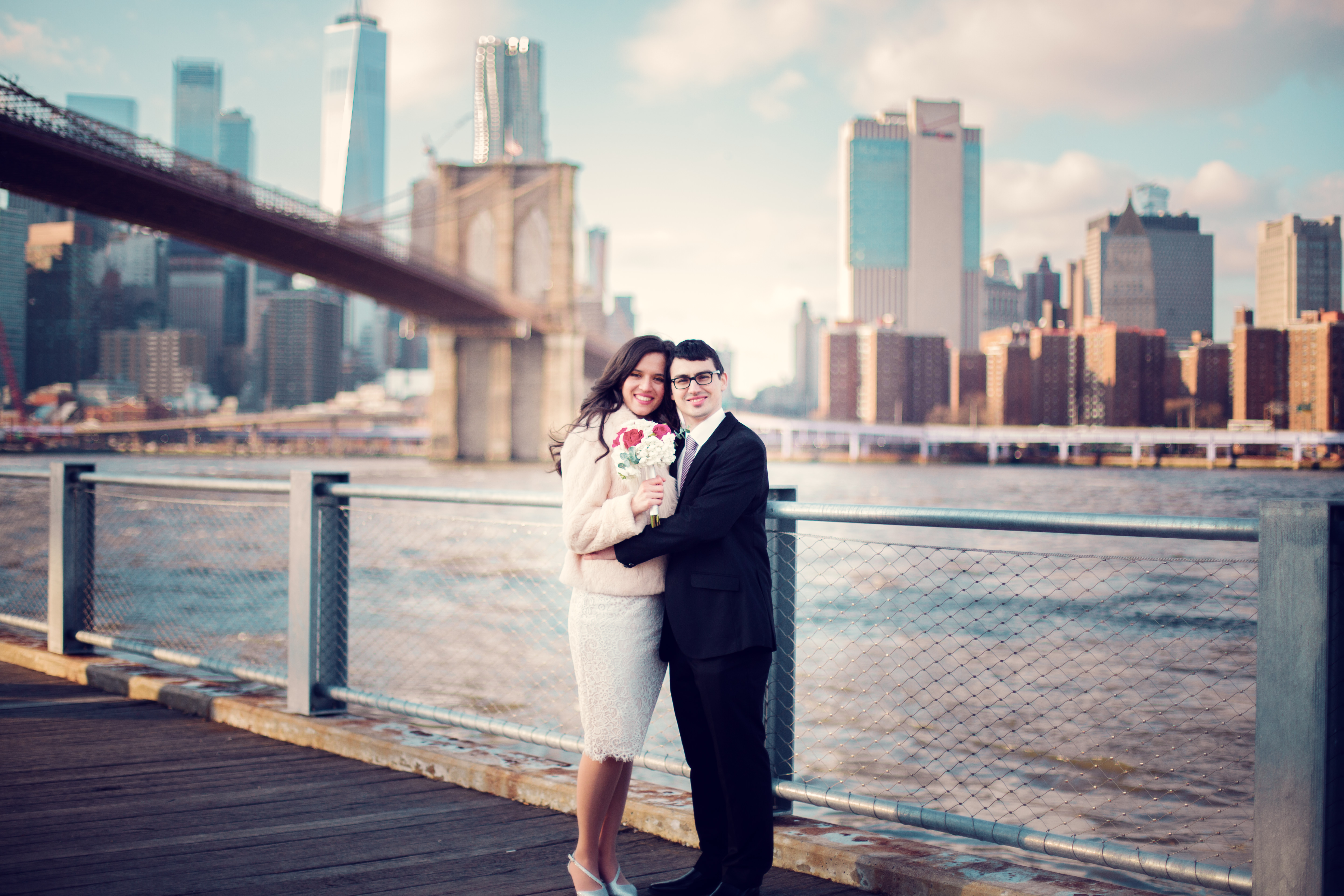 Destination Wedding Photographer in Brooklyn Bridge New York