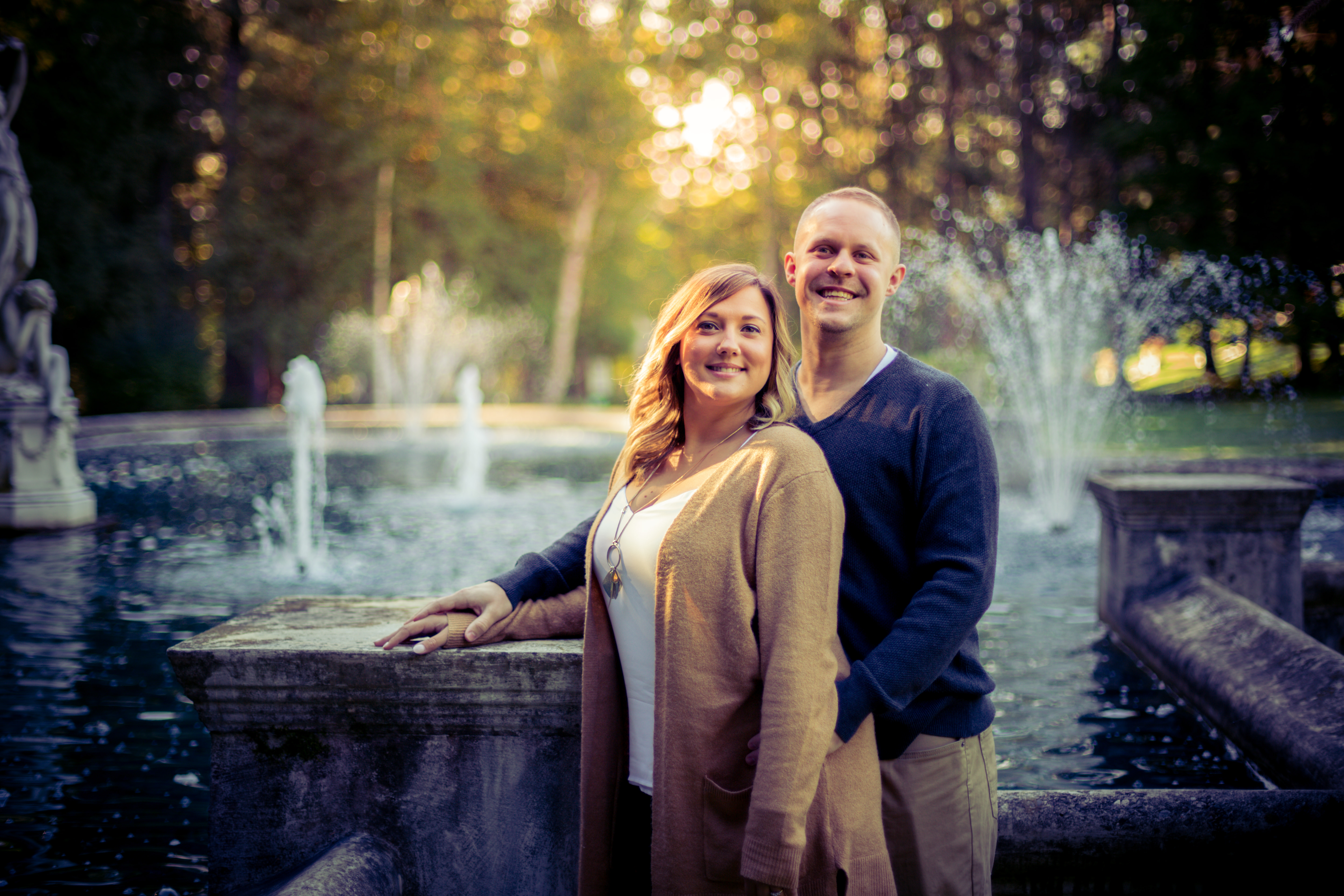 Engagement Photography in Yaddo Gardens