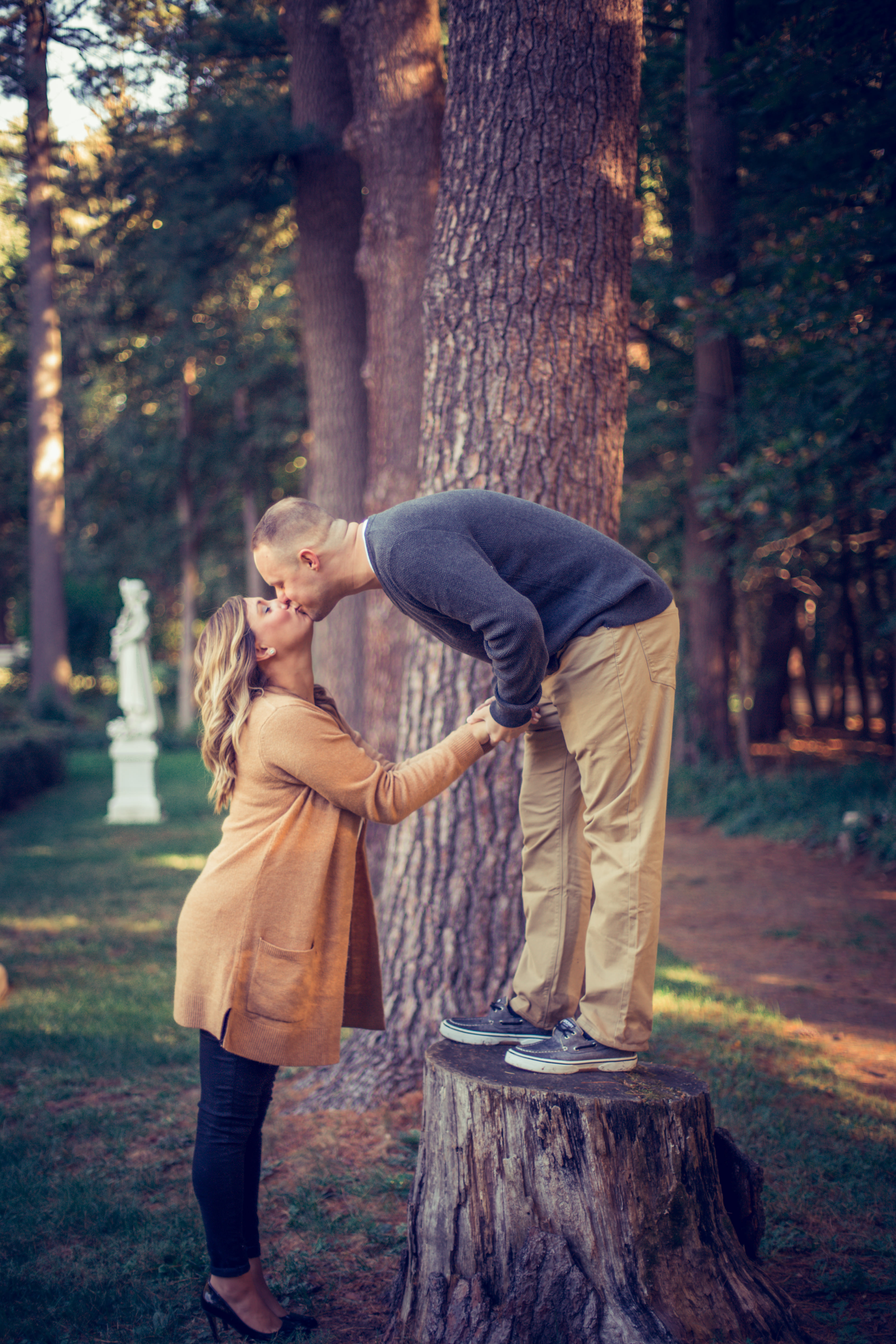 Engagement Photography in Yaddo Gardens Saratoga Springs