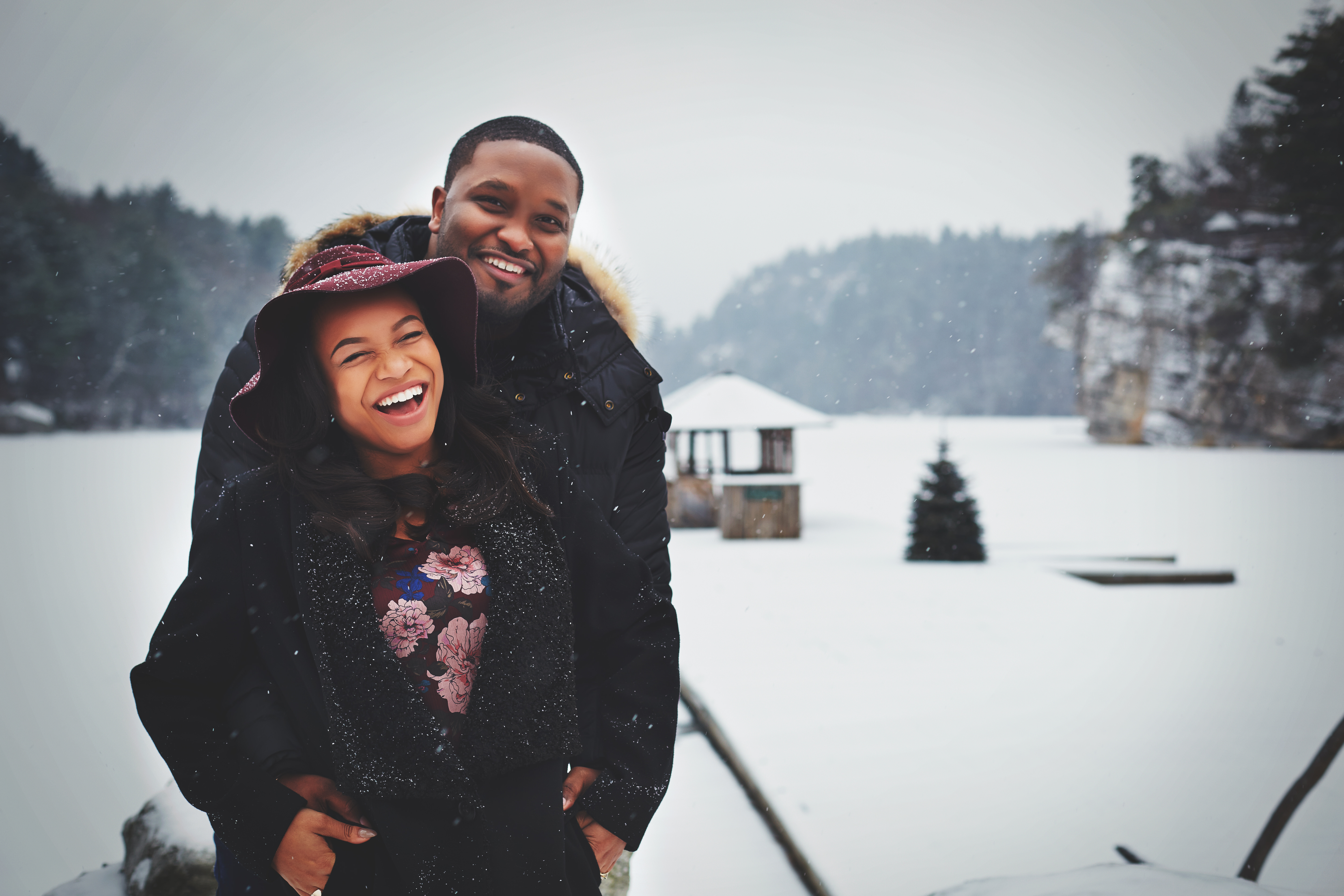Engagement Photography in Mohonk Mountain House in New York