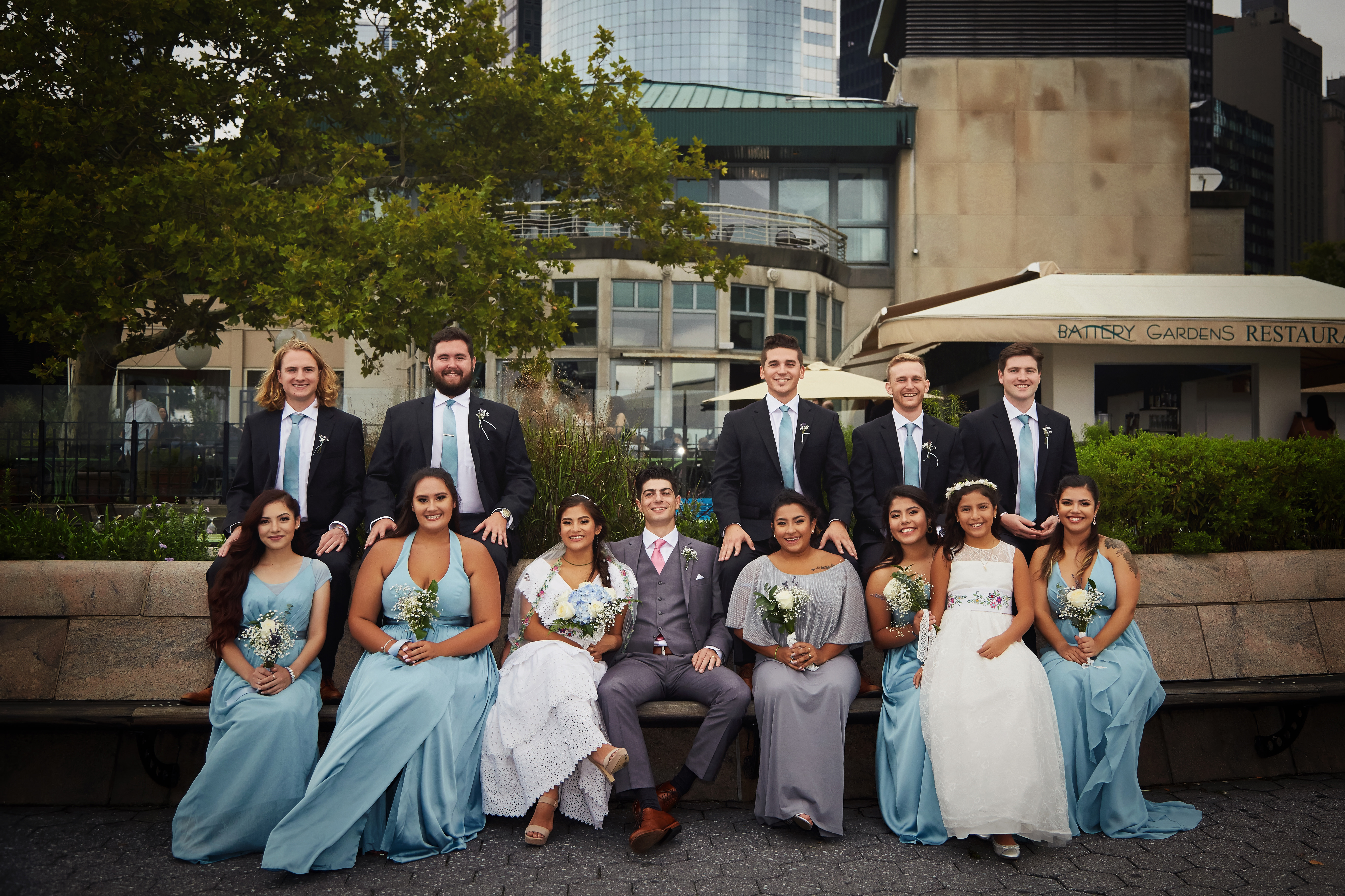 Wedding Photography in Battery Gardens in New York City New York