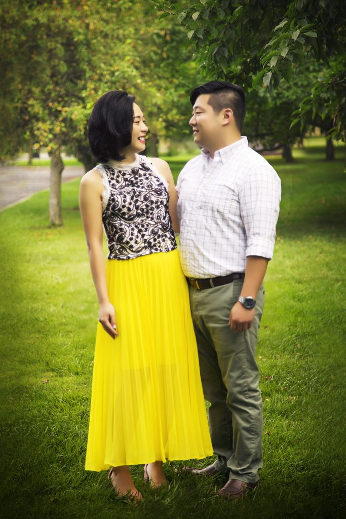 Engagement Photography in Grounds For Sculpture Hamilton New Jersey