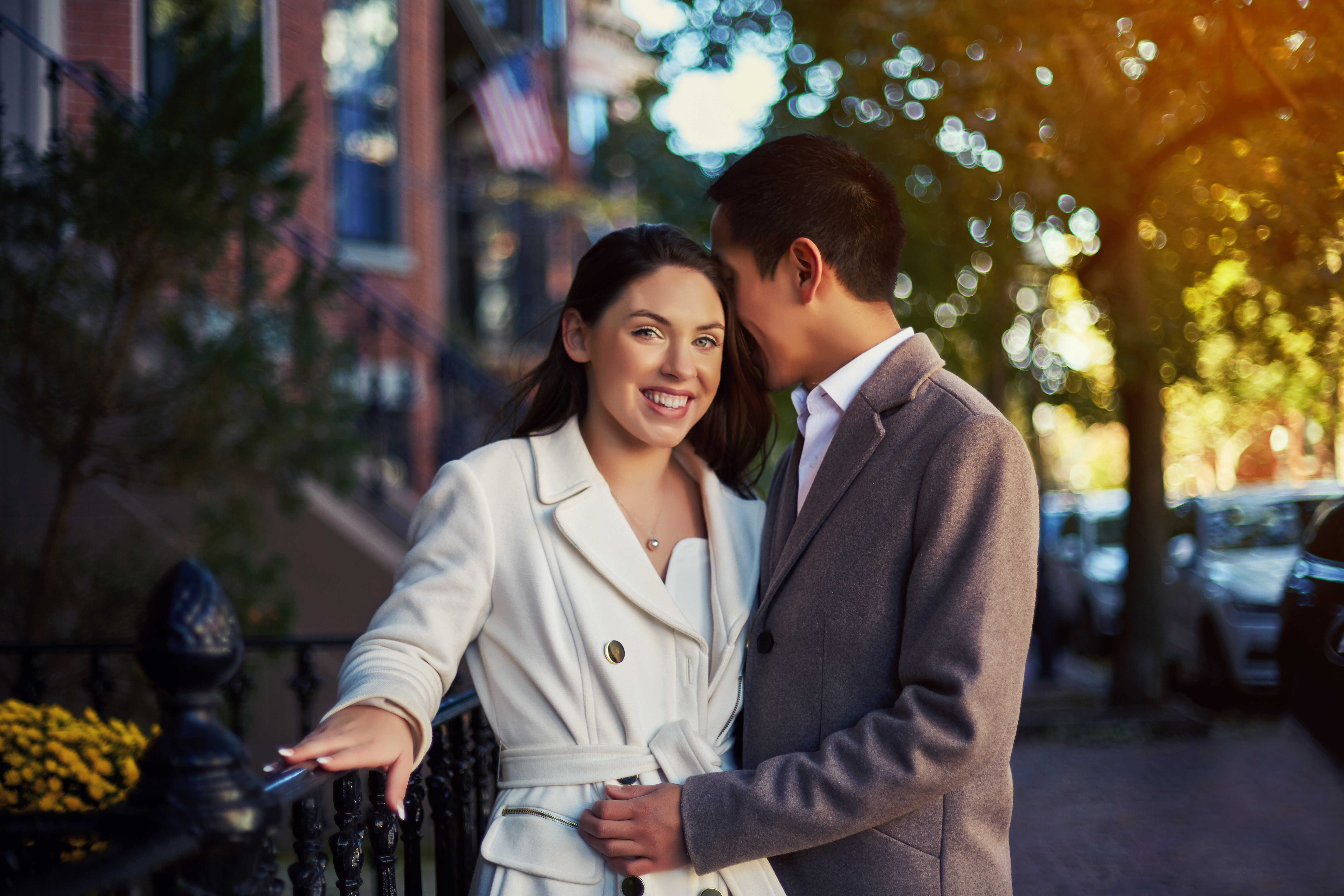 Engagement Photography in Acorn Street Boston