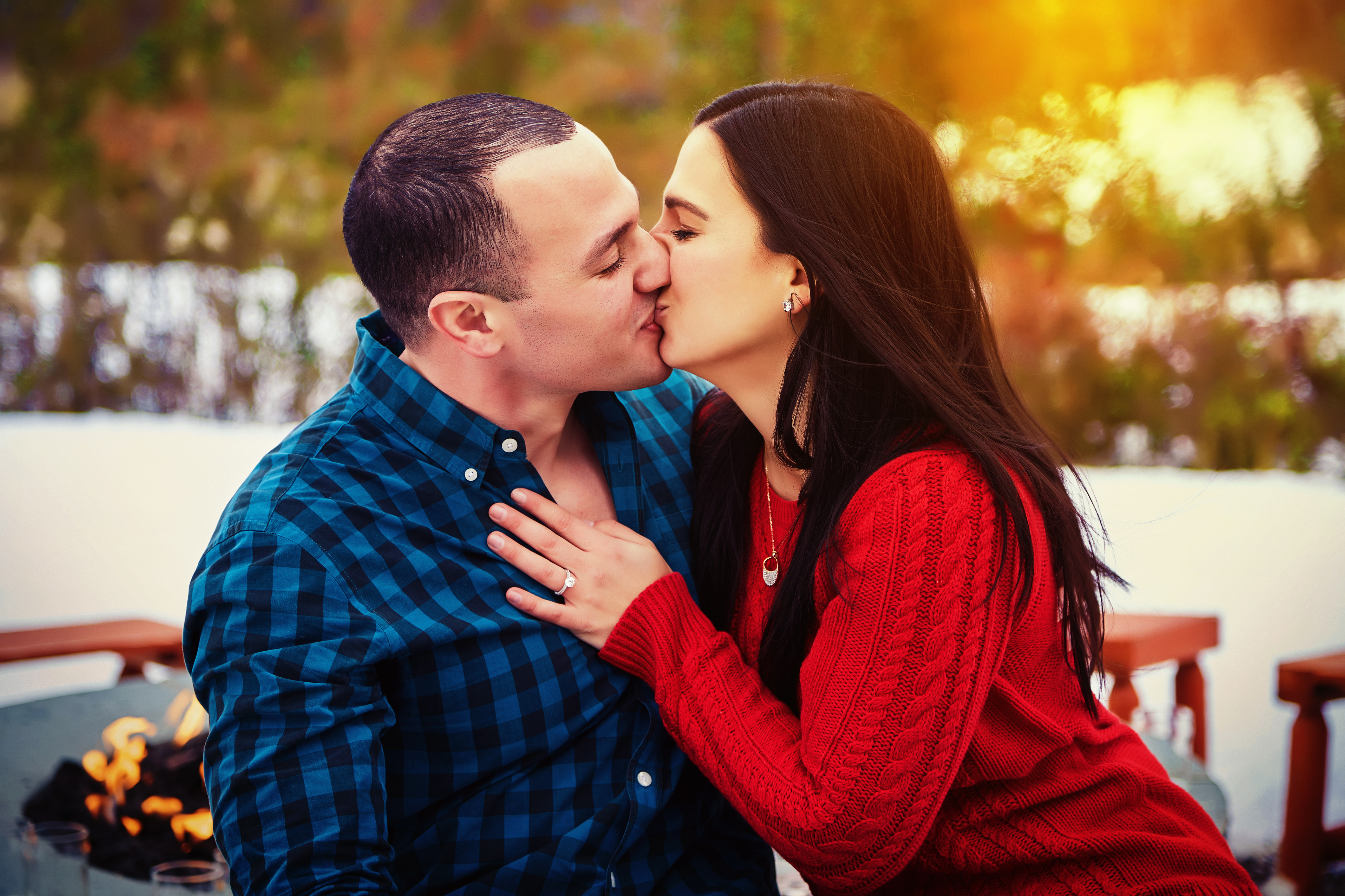 Engagement Photography in Angry Orchard Walden New York