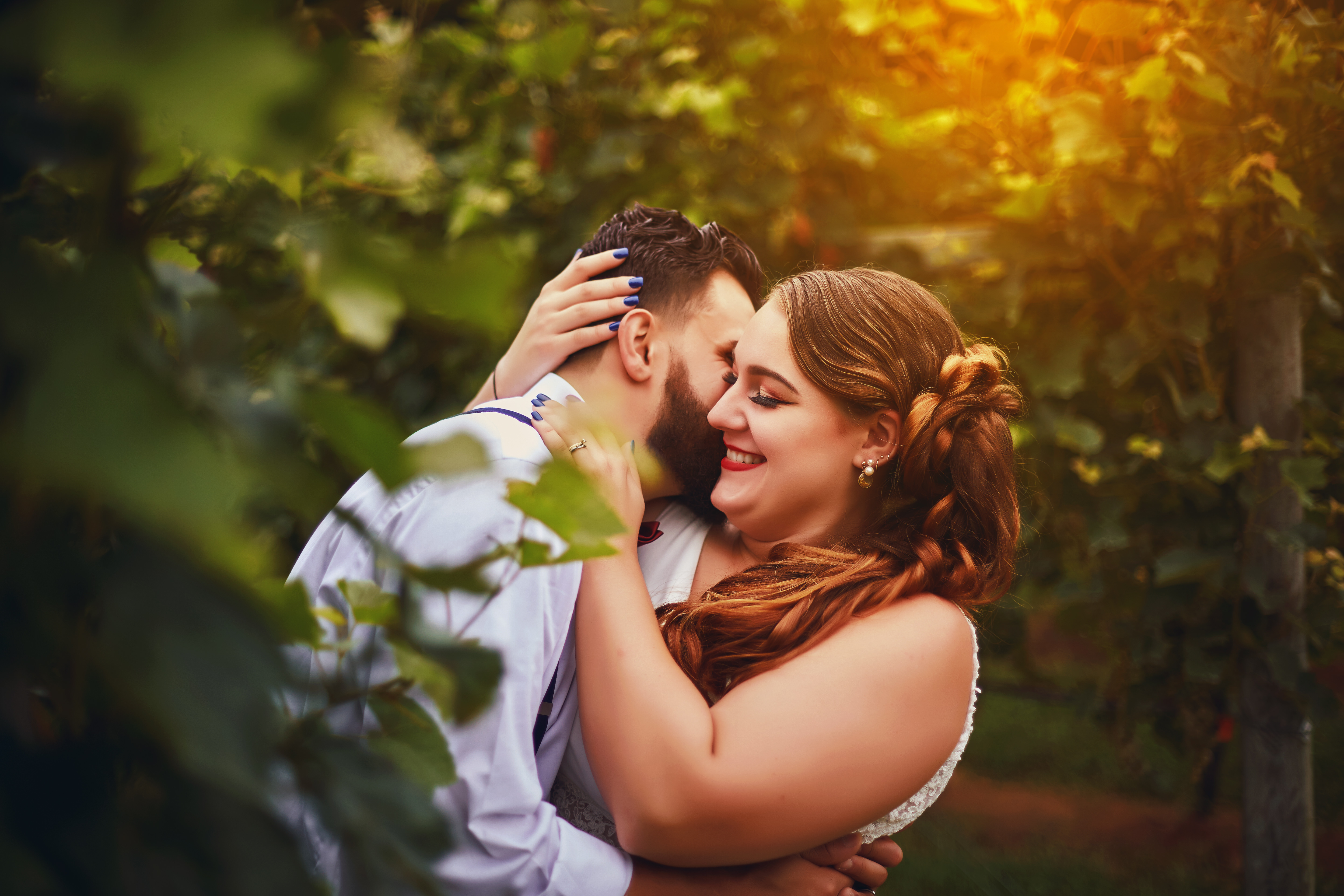 Wedding Photography in The Vineyard at Hillyland